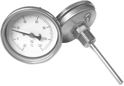 Termomanometre - Carcasa inox , racord radial sau axial